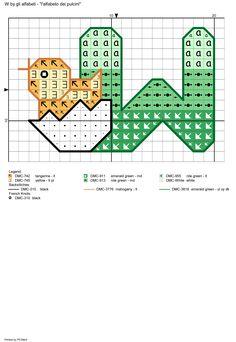 alfabeto dei pulcini: W