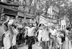 LA BARCELONA DIVERSA: BARCELONA , MANIFESTACIÓN ORGULLO GAY 1977