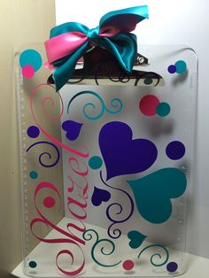 Acrylic Clipboard   Personalize up to 3 by NATURALLYYOURSGIFTS, $12.00