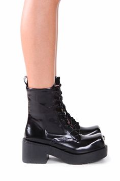 Jeffrey Campbell Shoes GNARLY Boots in Black Box
