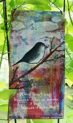 Faux Gelli Print Background with DecoArt Media Fluid Acrylics.