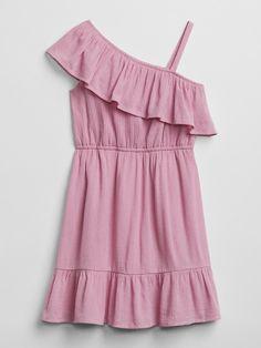 bd69d7a9bd5 Gap Girls Asymmetrical Crinkle Dress Forever Pink Necklines For Dresses