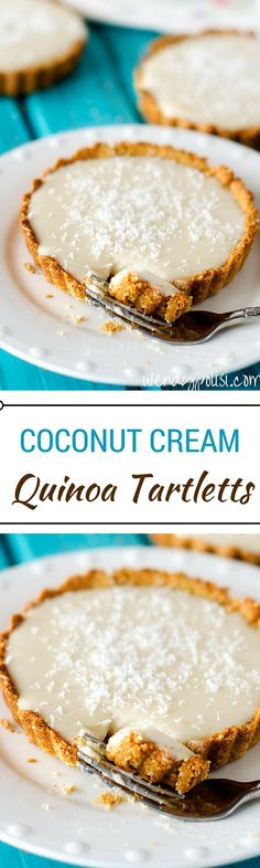 These Coconut Cream Quinoa Tartletts are a healthier way to satisfy your sweet cravings. Gluten Free & Vegan, this is a treat you can feel good about! via @wendypolisi