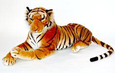 Lifelike Stuffed Cub Tiger