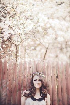 Фотография Young woman under blooming tree автор Shestock   на 500px