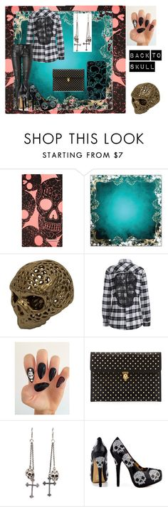 """""""Back to skull"""" by emily-dickson-1 ❤ liked on Polyvore featuring Burke Decor, Balmain, Alexander McQueen, King Baby Studio, Iron Fist and Marc by Marc Jacobs"""