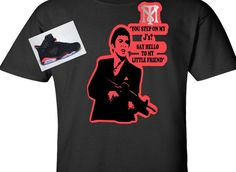 EXCLUSIVE SCARFACE SHIRT W/ REFLECTIVE 3M TO MATCH ANY NIKE/JORDANS/AIR JORDANS! #COPEMCUSTOMS #GraphicTee