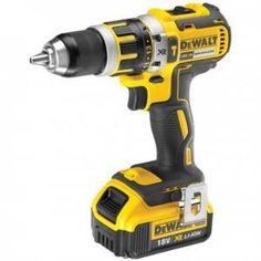 DeWalt XR Cordless Li-ion Brushless Combi drill 2 batteries - B&Q for all your home and garden supplies and advice on all the latest DIY trends Cordless Power Drill, Cordless Drill Reviews, Cordless Tools, Dewalt Tools, Tools Uk, Hand Tools, Diy Tools, Tools Online, Cheap Power Tools