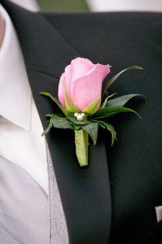 Boutonniere with hidden Mickey - Wedding Spotlight at the Wedding Gazebo: Sara + Ian   Magical Day Weddings   A Wedding Atlas Fan Site for Disney Weddings