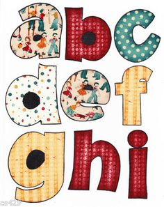 10 Appliques Pins to check out Applique Letters, Applique Quilts, Embroidery Applique, Embroidery Patterns, Quilt Patterns, Machine Embroidery, Sewing Patterns, Quilting Projects, Sewing Projects