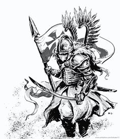 The Polish Hussars or Winged Hussars, were one of the main types of the calvary in Poland and in the Polish-Lithuanian Commonwealth between the and centuries. Slavic Tattoo, Poland Tattoo, Patriotic Tattoos, War Tattoo, Tinta China, Fantasy Armor, Symbolic Tattoos, Sleeve Tattoos, Tattoos For Guys