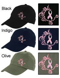 Eco-Friendly Elegance Pink Ribbon Baseball Hat at The Breast Cancer Site