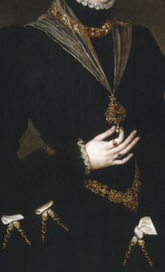 D. Maria de Portugal (detail), 1552, by Antonio Moro (aka. Anthonis Mor, and Anthonis Mor van Dashorst) (Dutch, 1517-1577)