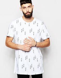 Imagen 1 de Camiseta larga con diseño estampado Baard de Waven