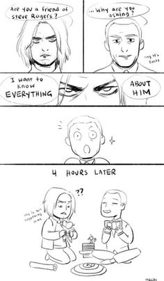 Bucky and Coulson // This took me a moment, but then I couldn't stop laughing. Bucky got more than he asked for. XD