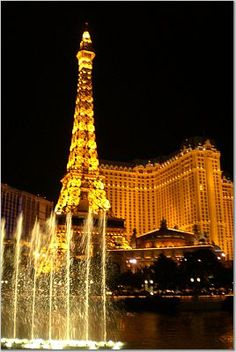 Eiffel Tower & Fountains at the Bellagio