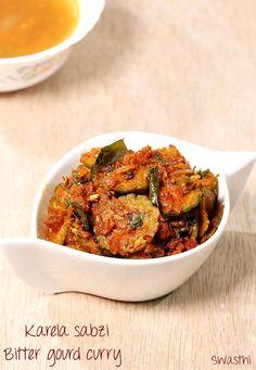 Bitter gourd curry recipe video - Karela sabzi recipe - Kakarakaya curry