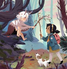 Olivia Chin Mueller : When you are wandering around the woods and you become best friends with a strange forest girl :D