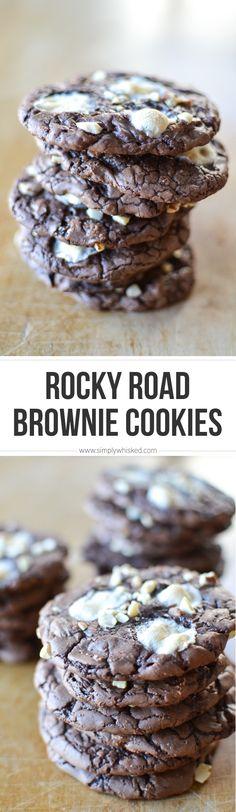 Rocky Road Brownie Cookies | EASY cookie recipe!