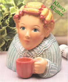 Morning Coffee - Clay Art cookie jar Love!