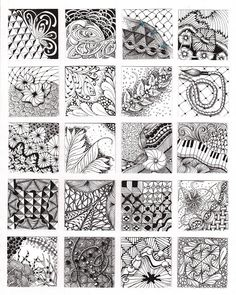 Zentangle doodle examples for class...what you can accomplish