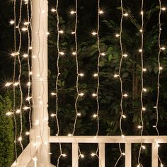 66 drop cool white led curtain lights 150 lights icicle lights 150 lite curtain mini light set clear lamps white wire aloadofball Choice Image