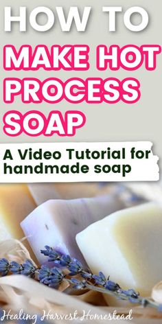Watch how to make homemade natural soap in a crock pot! You'll be making beautiful, non-toxic handmade soaps with trusted recipes before you know it! #soap #making #forbeginners #makingforbeginners #howto #makesoap #recipes #hotprocess #easy #handmade #homemade #healingharvesthomestead