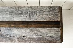 THE TATER | Bench made from Reclaimed Ontario Potato Crate Wood and Black Pipe  Custom Orders Available