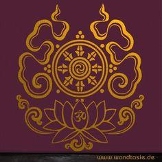 Wandtattoo_buddhistische_symbole
