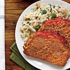 Meatloaf | 59 Simple Slow-Cooker Recipes | Southern Living {This savory meatloaf recipe is a guaranteed crowd-pleaser. Easy Side: Prepare 1 (30-oz.) package frozen country-style shredded hash browns according to package directions. Stir in 1/4 cup each chopped fresh parsley, sour cream, bottled Ranch dressing, 1 tsp. freshly ground pepper, and 1/2 tsp. salt.}