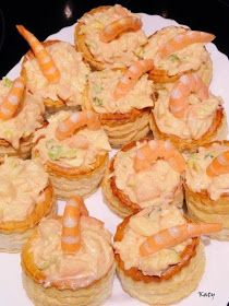 Para hincar el diente K+M = M+K: Volovanes rellenos de cóctel de langonstinos Appetizer Recipes, Snack Recipes, Snacks, Healthy Diners, My Favorite Food, Favorite Recipes, Octopus Recipes, Vol Au Vent, Party Sandwiches