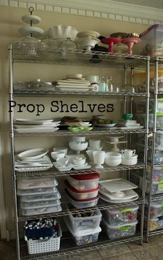 cookie photography from sweetsugarbelle.com - i want a prop shelf too!