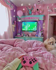 Girl Bedroom Designs, Room Ideas Bedroom, Girls Bedroom, Bedroom Decor, Bedrooms, Cute Room Ideas, Cute Room Decor, Pastel Room, Pink Room