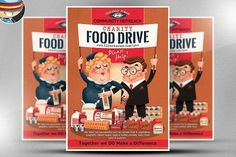Charity Food Drive Flyer Template by FlyerHeroes on @creativemarket