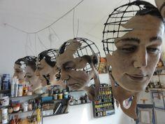 Marieta Golomehova-stage design and puppets Cardboard Sculpture, Paper Mache Sculpture, Art Sculpture, Marionette Puppet, Puppets, Creepy Dolls, Stage Design, Stop Motion, Art Plastique