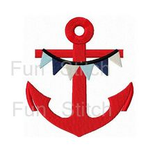 Anchor machine embroidery design instant download on Etsy, $4.00