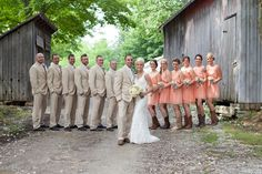 Katie & Jake's Wedding Photo By Mandy Paige Photography  Love the group shot formation!
