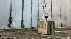 Our First Christmas Ornament Wedding by MyPrimitiveBoutique