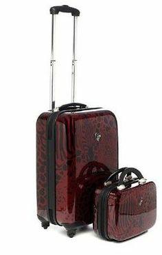 Heys Serengeti 2 Piece Hardside Spinner Luggage Set Carry on Beauty Case Lion | eBay