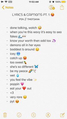 PIN; @marianajwl ✨. / mari bandzzz 🥵 . Snapchat Captions, Lit Captions, Summer Captions, Instagram Picture Quotes, Instagram Captions For Selfies, Selfie Captions, Selfie Quotes, Bio Quotes, Cool Captions