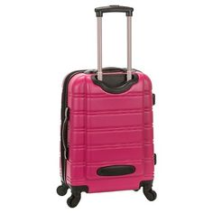 Rockland Melbourne Expandable Abs Spinner Luggage set - Magenta (Pink)