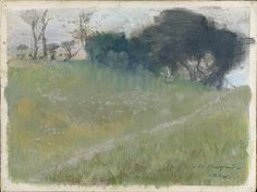 Edgar degas, Landscape with Path Leading to a Copse of Trees, 1890-1892