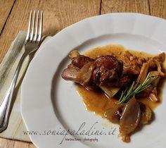 #AGNELLO #stufato #funghi #galletti #cipollotti