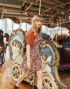 e0cc6a05f6 Madewell x Karen Walker® Silk Floral Rosalie Ruffled Dress