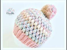 Einfache Mütze häkeln aus Büschelmaschen / Tolle Wintermütze häkeln - YouTube