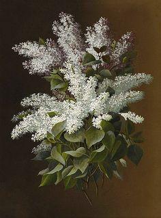 Still life of lilacs. Raoul De Longpre (1859-1911)