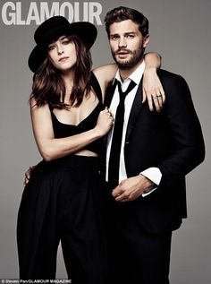 Co-stars: Jamie Dornan and Dakota Johnson have now lifted the lid on what went on behind-the-scenes of filming the upcoming movie adaptation of  Fifty Shades Of Grey in a joint shoot for Glamour magazine