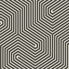 Labyrinth  (93/5018) - Cole & Son Wallpapers - An intricate, geometric labyrinth design. Shown here in black and white. Paste the wall product. Please order a sample for true colour match.