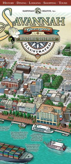 savannah attractions  printable maps and savannah on pinterest