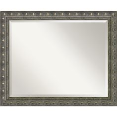 Amanti Art Wall Mirror Large, Barcelona Champagne 32 x 26-inch - Pewter, Grey